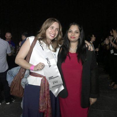 Ar. Surbhi with WomenInLighting Ambassador to India